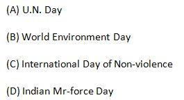 Which one of the following days is not observed in the month of October?